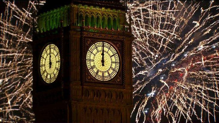 Best wishes from Caroline & James !!! <3 <3 <3  www.carolinewilde.wordpress.com London Fireworks 2014 - New Year's Eve Fireworks - BBC One