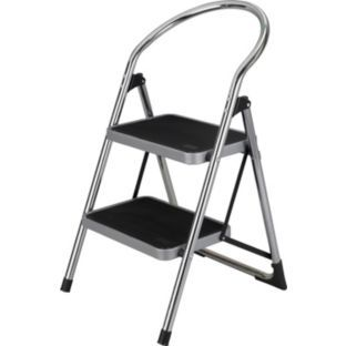 Buy 2 Step Chrome Step Stool at Argos.co.uk - Your Online Shop  sc 1 st  Pinterest & 10 best kitchen step ladders images on Pinterest | Ladders ... islam-shia.org