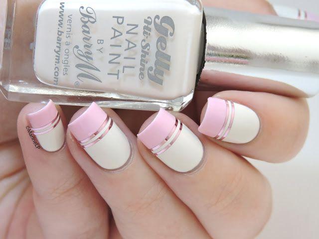 Doublegum // La manucure graphique tout en douceur - pink graphic nails with…