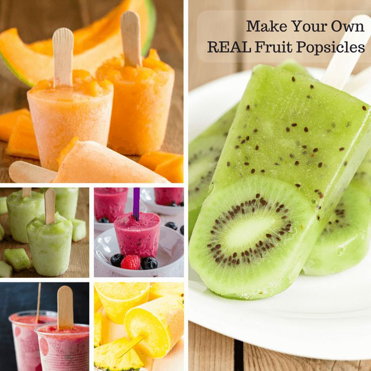 Homemade fruit popsicles — no added sugar!