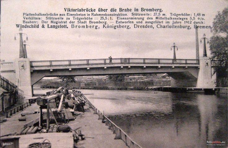 Most im. Królowej Jadwigi (Victoriabrücke), Bydgoszcz - 1916 rok, stare zdjęcia