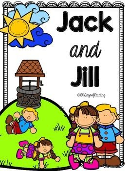 Lots of activities to go with the Nursery Rhyme Jack and Jill. Great for those first days of school before you get into your Reading Program. Activities for Short Vowels, Letter Recognition, First Sounds and Ending Sounds, Segmenting, Blending, Sequencing, Comprehension, Fluency, and Writing are included.