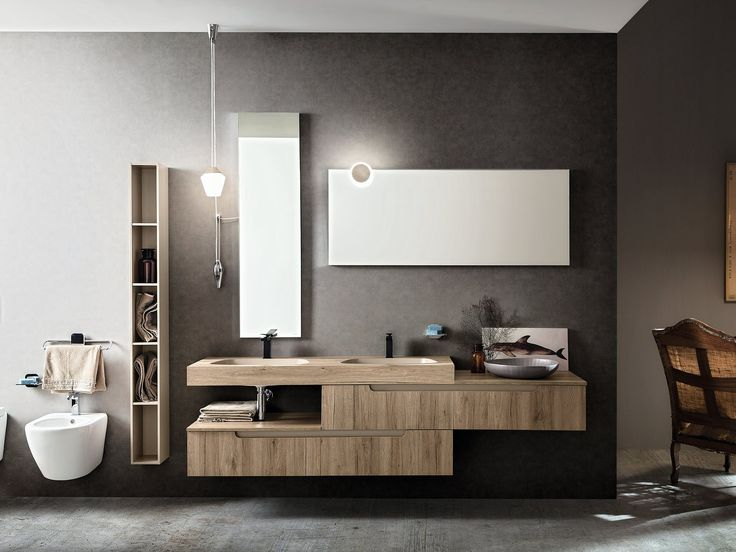 Double wall-mounted vanity unit RYO NEW 2/3 Ryo Collection by Cerasa design Stefano Spessotto, Lorella Agnoletto