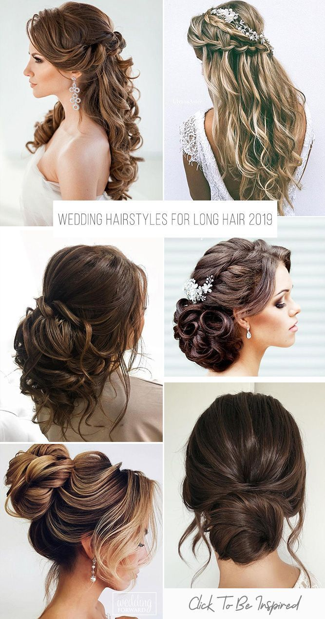 72 best wedding hairstyles for long hair 2019 | bridal
