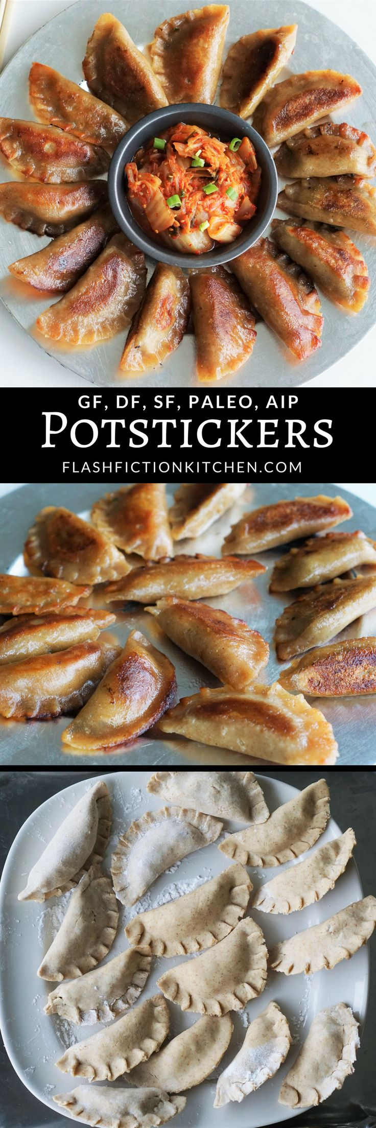 Paleo/AIP Potstickers (aka dumplings, mandoo) from Flash Fiction Kitchen