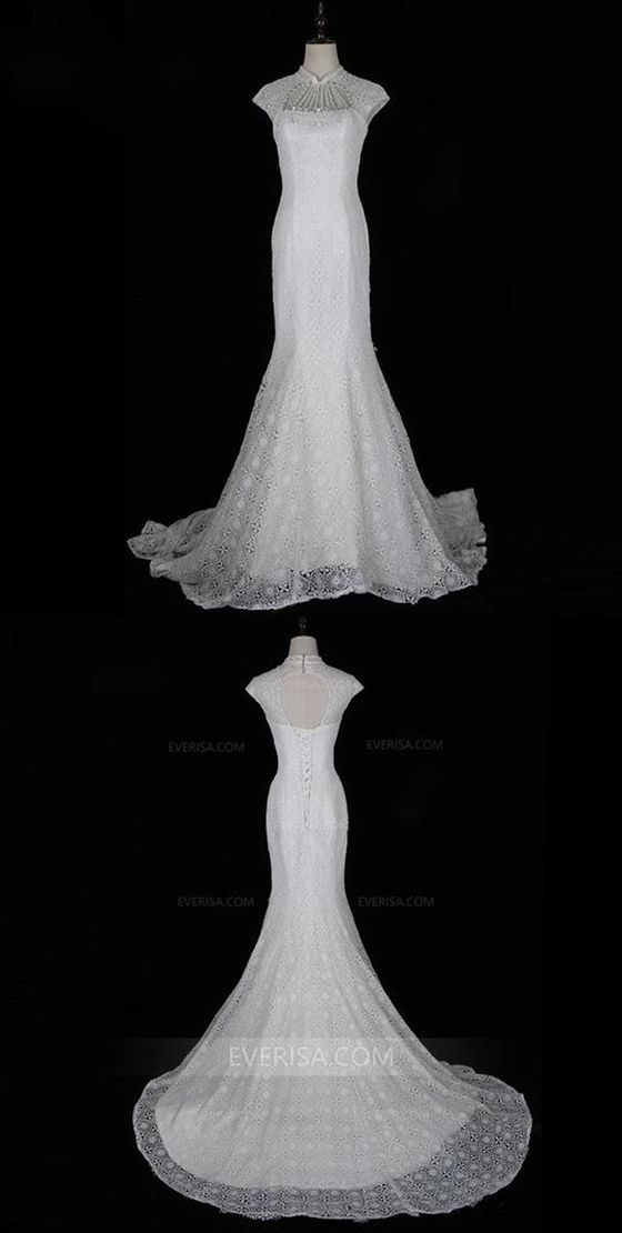 504fe8429d60e5 high neck wedding dress lace Archives - Pinpicgo
