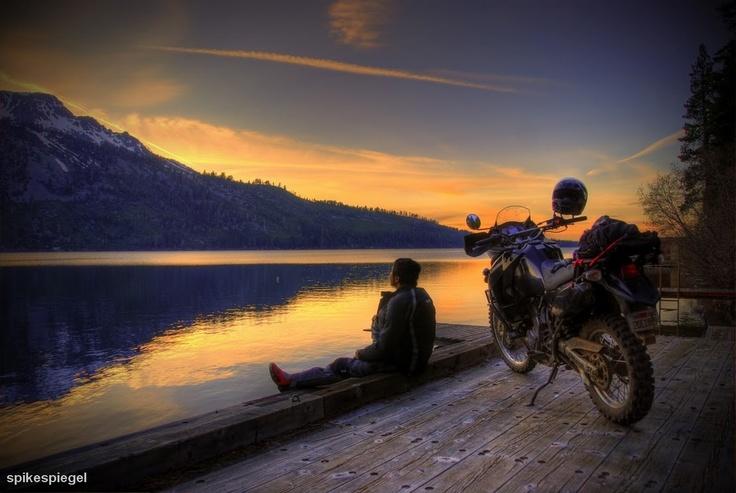 Adventure Rider Motorcycle Freedom.