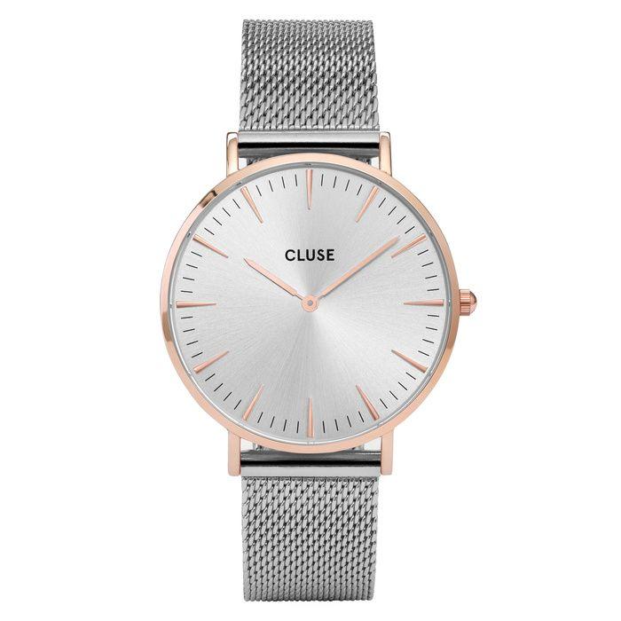 Zegarek CLUSE La Bohème Mesh Rose Gold/Silver CL18116 Time & More