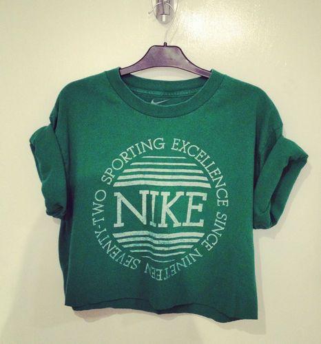 Vintage Nike RENEWAL crop t shirt XS S M Urban Outfitters style | eBay    £0.99 start!