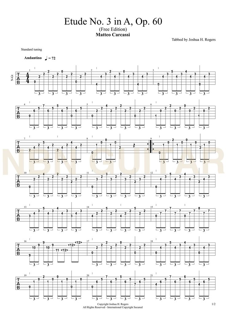 86 Best Classical Guitar Tabs Images On Pinterest