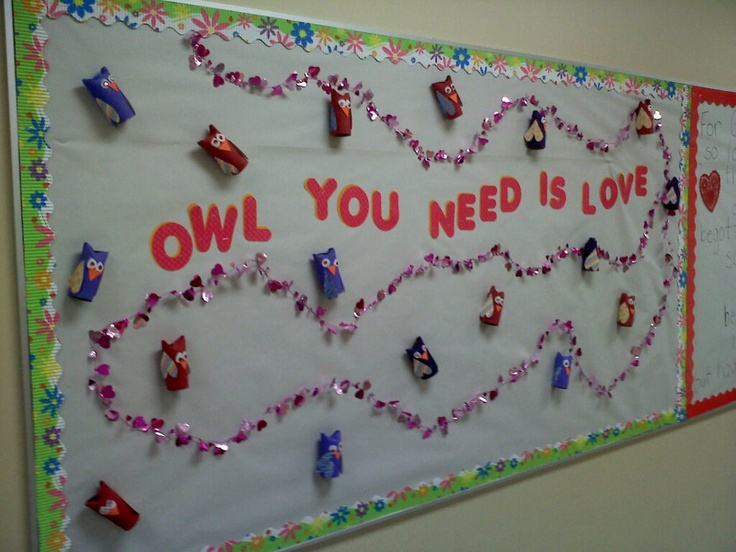 Owl you need is love Valentine Bulletin Board