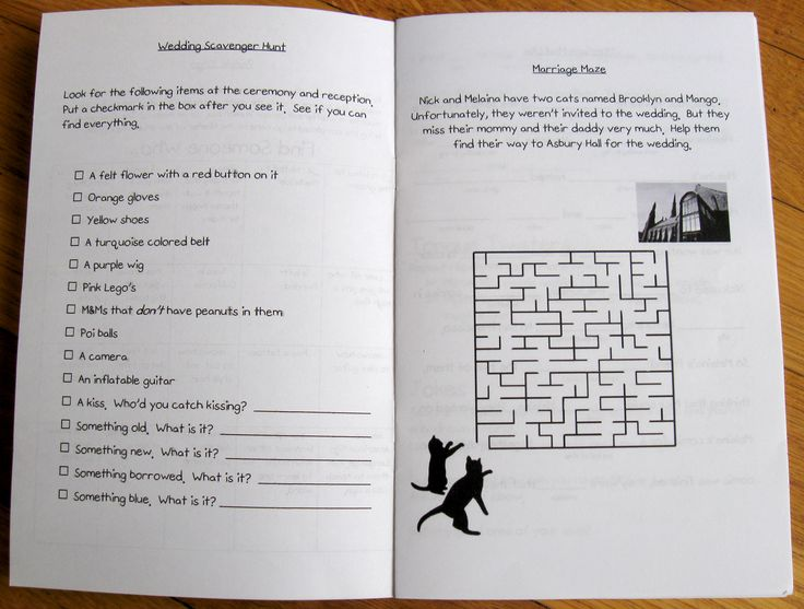 DIY activity book for the children at your wedding   Offbeat Bride