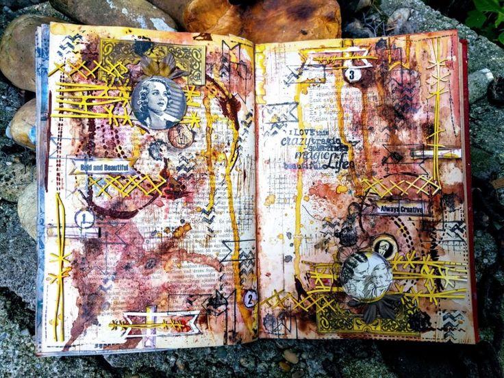 Vintage és Stitches – art journal
