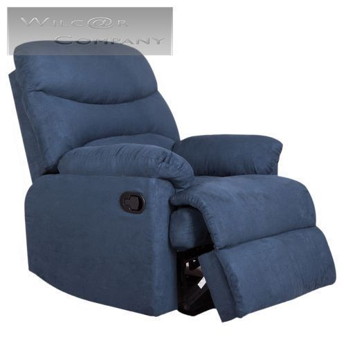 New Navy Microfiber Recliner Lazy Boy Reclining Chair Furniture Living Room Home #Traditional