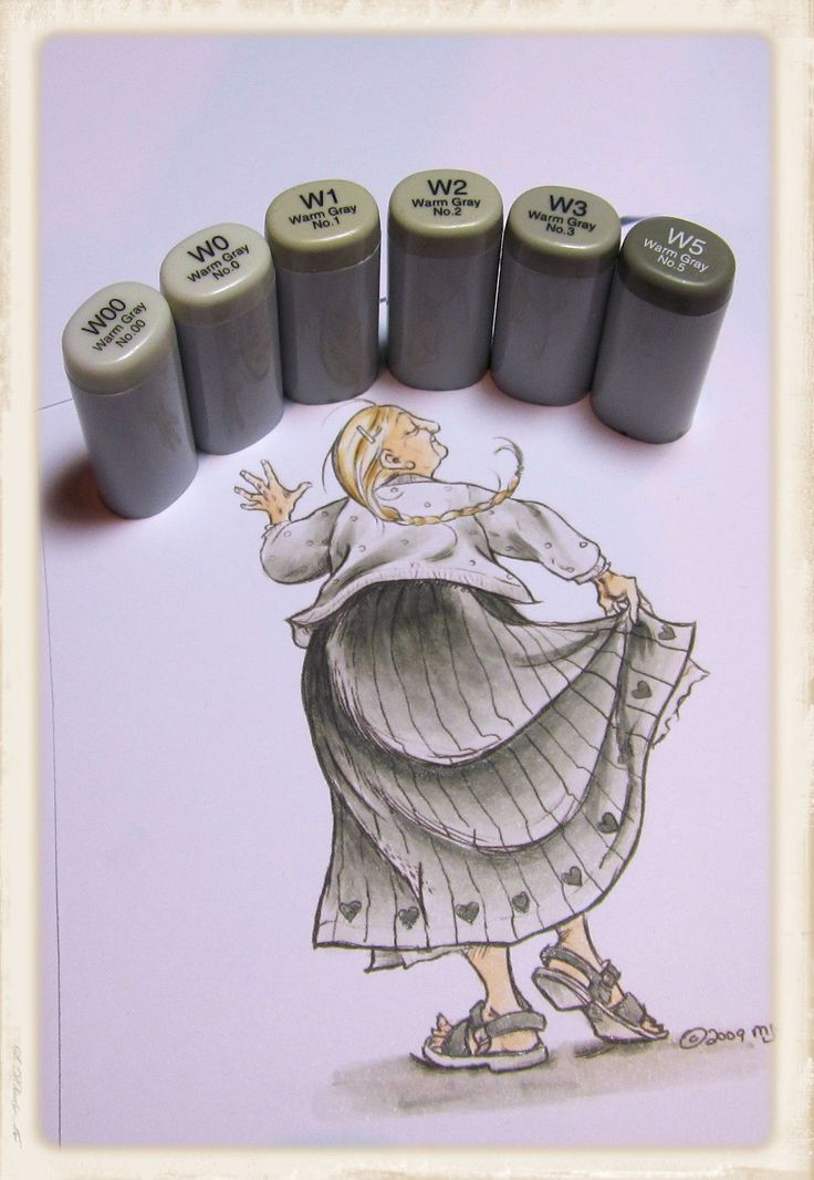 Copic Marker Europe: Tutorial Monochromatic colouring