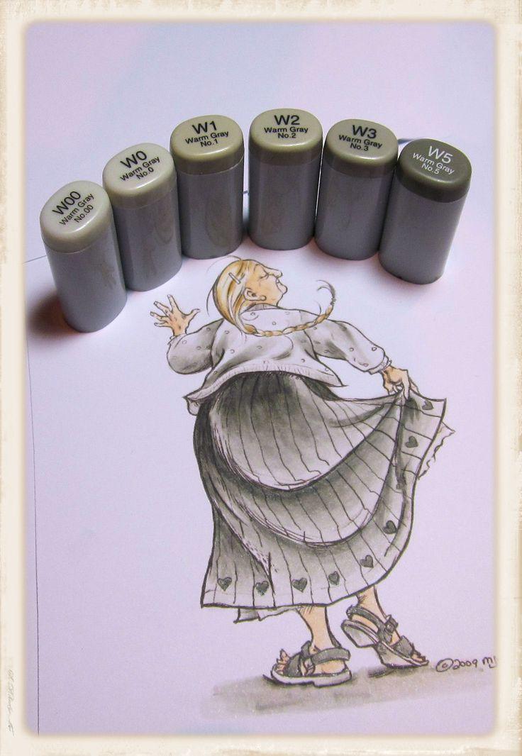 Copic Marker Europe: Tutorial Monochromatic colouring