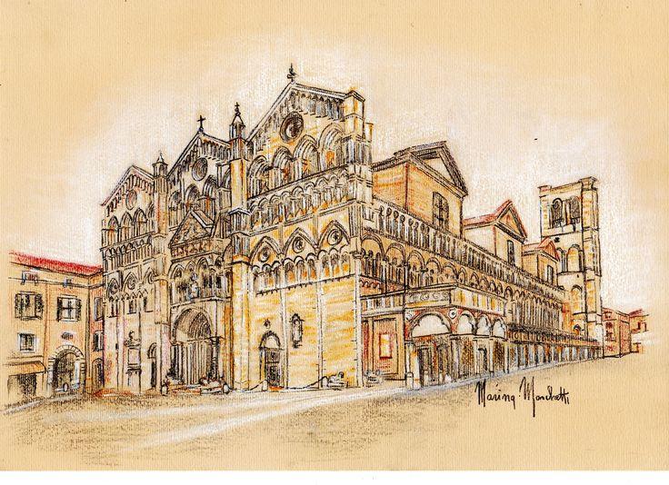 #Cattedrale# Ferrara#marinamarchetti#disegni