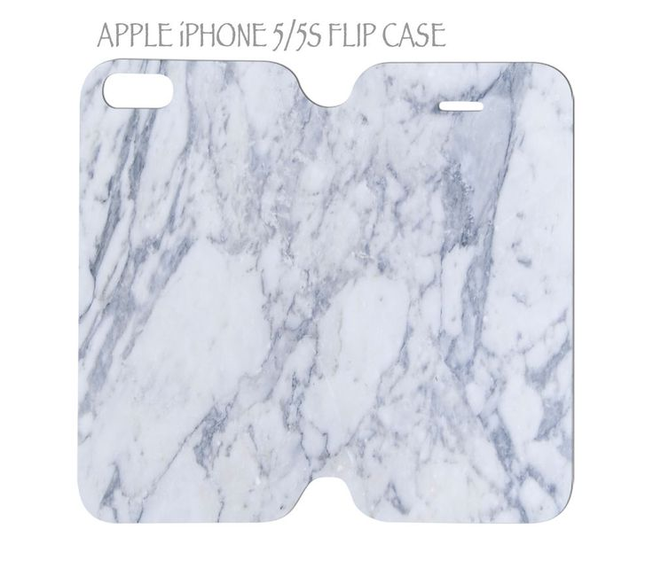 iPhone 5 / 5s Flip Case Folio Cover White Marble #QuinnCafe
