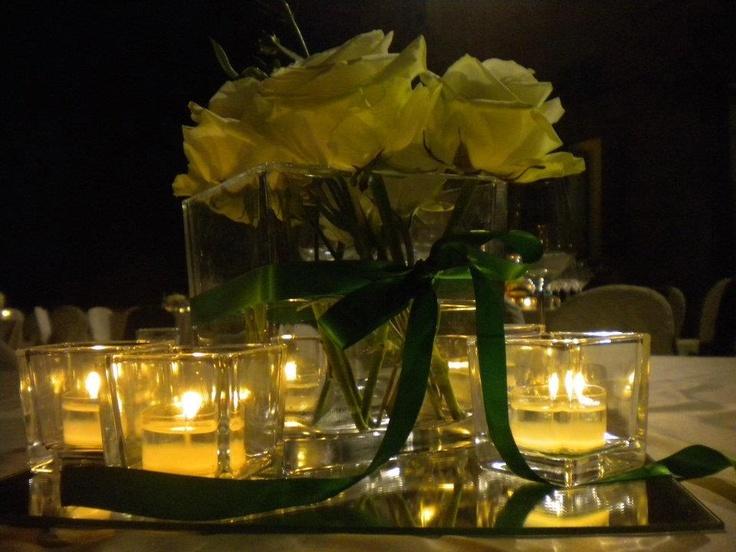 Centro tavola di notte