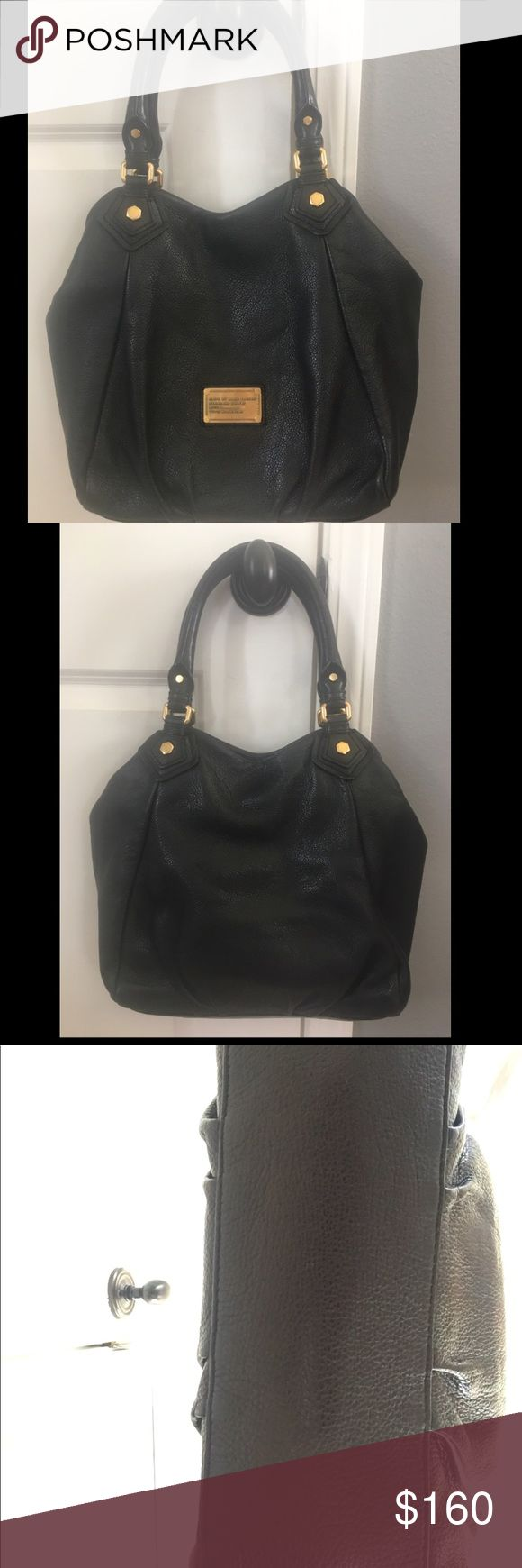 MARC by Marc Jacobs Bag MARC BY MARC JACOBS Classic Q FRAN black Leather Large Hobo Bag VGC. The leather is in beautiful condition - cannot tell that it has be used. It has the signature brass logo plaque on front exterior, signature black & white fabric interior lining, brass toned hardware and a magnetic closure. This beautiful bag is great for everyday day wear 😊 Reasonable offers accepted! Marc By Marc Jacobs Bags