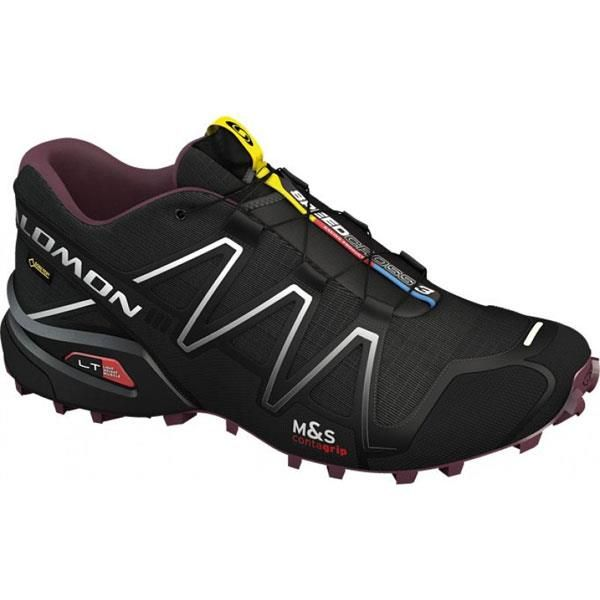 womens salomon shoes black