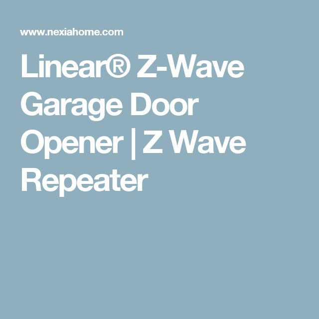 linear z wave garage door openerDie besten 25 Garage door opener app Ideen auf Pinterest