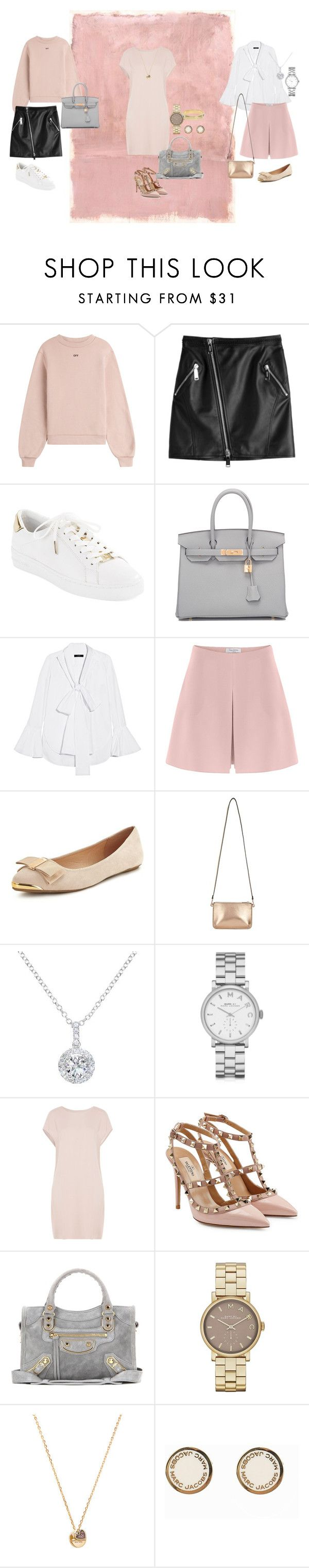 """""""SPRING 2017"""" by yasmingarcia99 on Polyvore featuring Rothko, Off-White, Dsquared2, MICHAEL Michael Kors, Hermès, E L L E R Y, Valentino, Miss Selfridge, EWA and Marc by Marc Jacobs"""