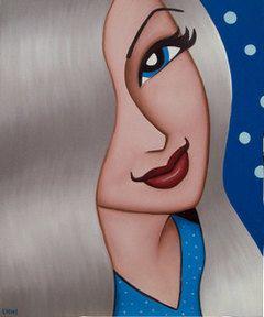 yvonne. pop portrait art painting