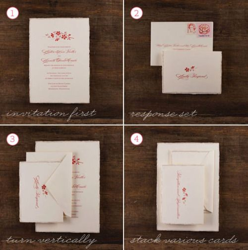 Lovely How To Assemble A Wedding Invitation STUFFING THE ENVELOPES One Question  Brides Often Have Is How They Should Stuff Their Envelopes U2013 What Order  Should The ...