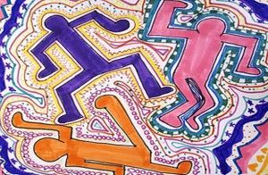 Keith Hering Art Lesson about lines and movement. A great way to start off your Art lessons for the year! I've found it workable for Grades 1, 2, 3, 5 & 6 - just adapt as necessary.