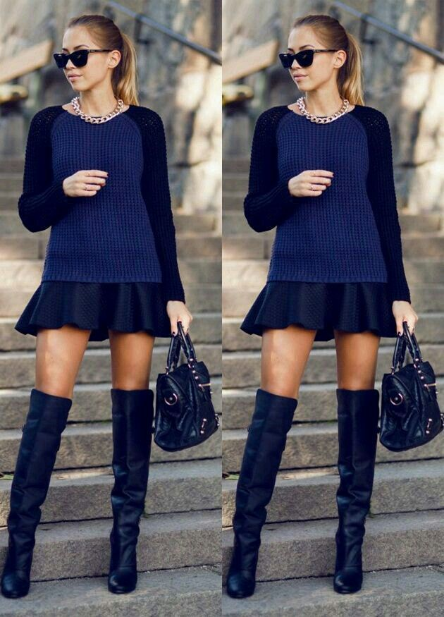 Acha que só porque está frio não pode usar saia?  Errada , pode usar e abusar das saias no inverno
