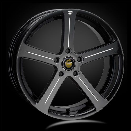 19 CADES APOLLO ACCENT BLACK  alloy wheels for 5 studs wheel fitment in 8.5x19 rim size