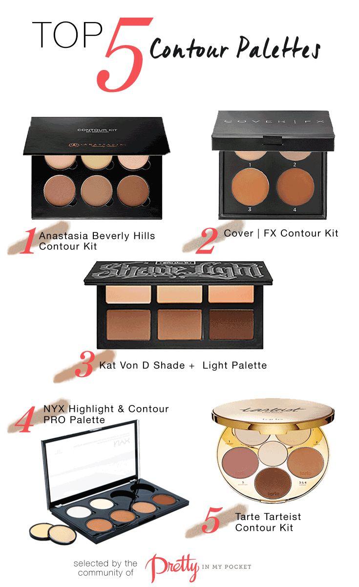 Top 5 Contour Palettes! Find them here: http://www.prettyinmypocket.com/web/looks/4727-top-5-contour-palettes