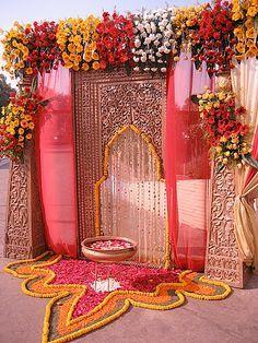 WEDDING MAIN ENTRANCE Indian wedding hall