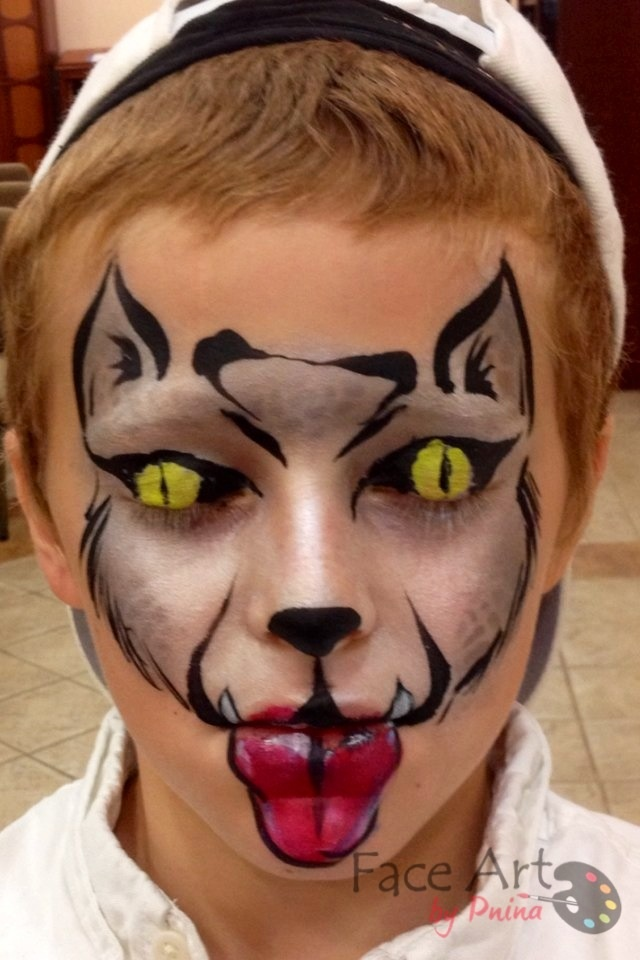 Wolf  - Face Art by Pnina Face painting Brooklyn New York