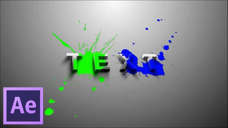 After Effects Tutorial & Free Projects : 3D Splatter Text Effects