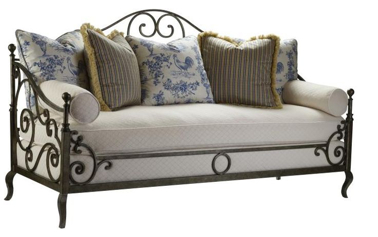 Highland house furniture 4148 80 provence iron sofa home decor pinterest provence - French country sectional sofas ...