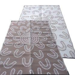 Aboriginal Recycled Mat - Medium (2.7m x 1.8m) - Meeting Place (Brown/White)  $98.00
