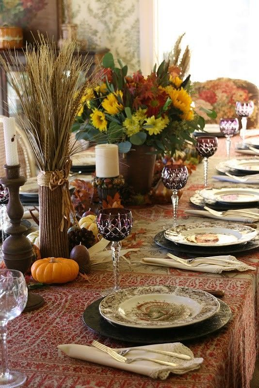 571 best Fall / ThanksgivingTablescapes images on Pinterest | Table ...