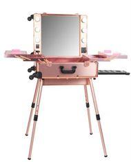 PRO Studio Makeup Trolley w/Legs - Rose Gold