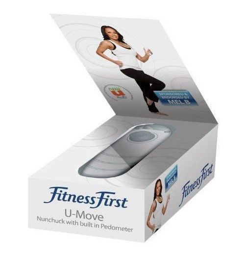 Mel B: Fitness First -U- Move nunchuk Controller with pedometer For Nintendo Wii
