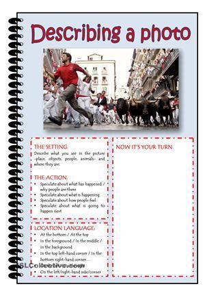 DESCRIBING A PHOTO worksheet - Free ESL printable worksheets made by teachers