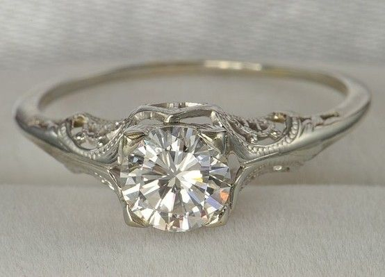 in love with vintage style rings simple yet absolutely stunning a girl can dream - Wedding Rings Vintage