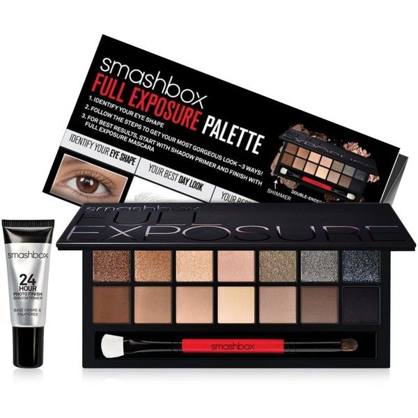 Smashbox Full Exposure Eyeshadow Palette ($52) ❤ liked on Polyvore featuring beauty products, makeup, eye makeup, eyeshadow, none, smashbox eye makeup, smashbox, palette eyeshadow, smashbox eyeshadow and smashbox eye shadow