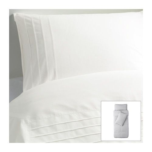 ALVINE STRÅ Quilt cover and 2 pillowcases - 150x200/50x80 cm  - IKEA