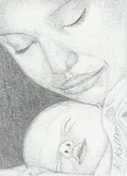 Mother and Baby ACEO