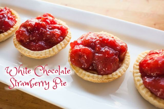 Yummy! Sweet, tart, delicious! Simply Bakings | White Chocolate Strawberry Pie