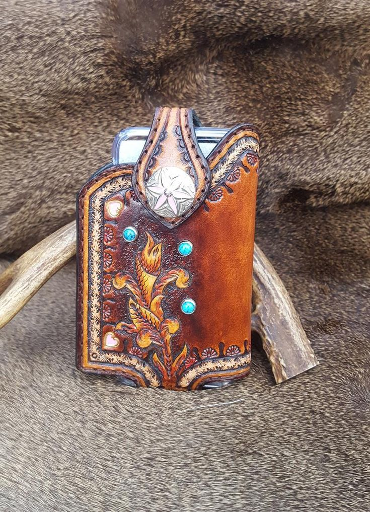 Handmade leather smartphone cell phone case for iphone6s