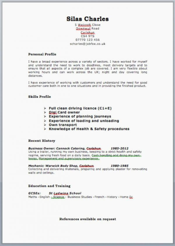cv examples for retail jobs uk beautiful collection