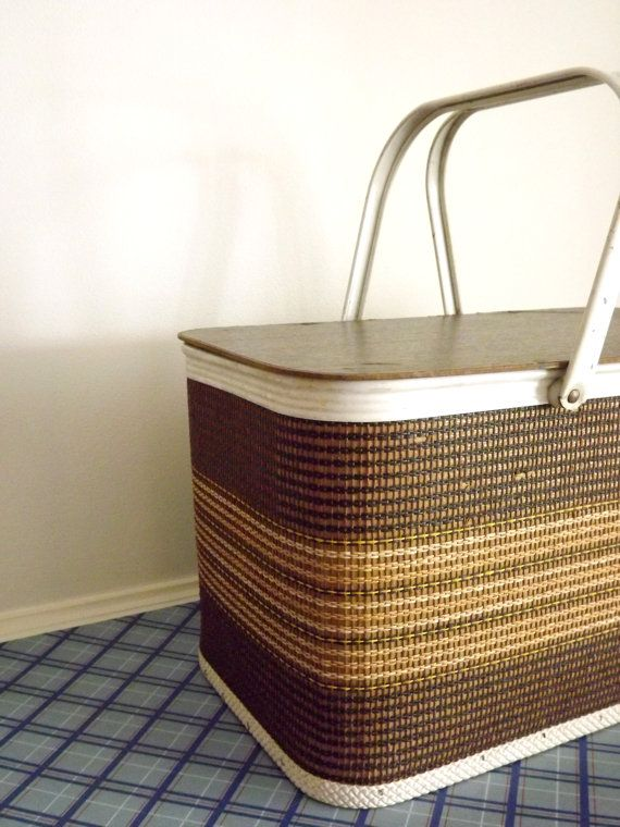 I never can have enough... Woven Picnic Basket Redmon USA Large Industrial by ForsythiaHill, $25.00